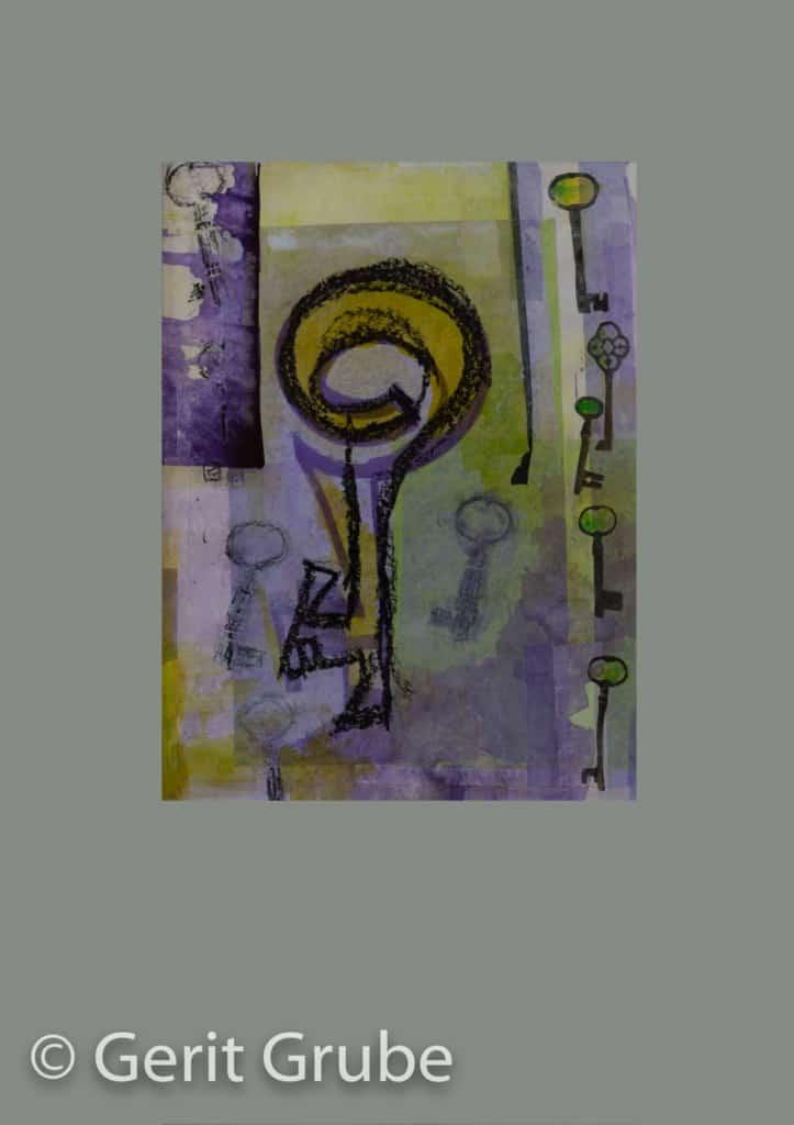 Der Weg zu Dir 2 - je 30 x 40 cm – im Rahmen je 51 x 71 cm - Collage Gerit Grube