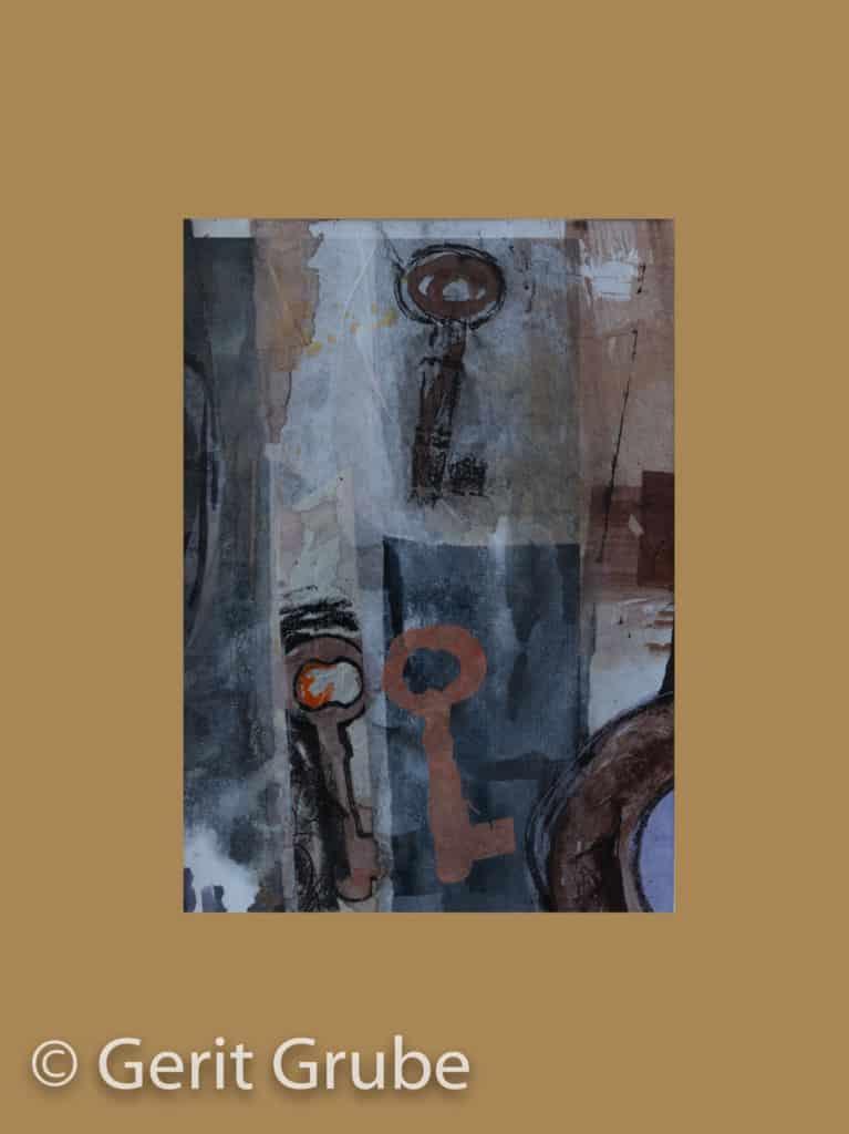 Der Weg zu Dir 4 - im Rahmen 31 x 41 cm - Collage Gerit Grube