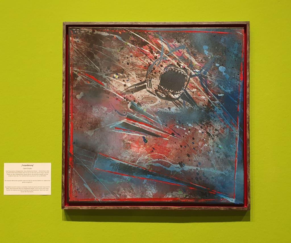 """Das Werk """"Torpedierung"""" wird in der Ausstellung """"Begegnungen"""" gezeigt"""