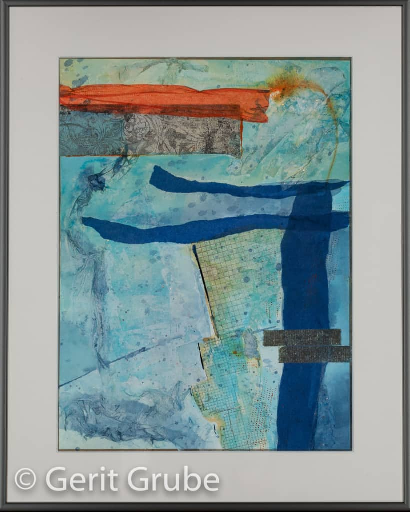 Aus dem Effeff 2 - 30 x 40 cm – im Rahmen 40 x 50 cm - Gerit Grube