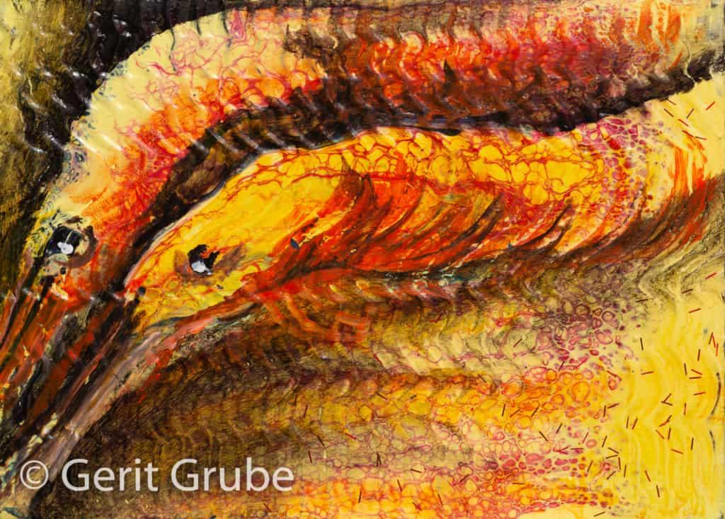 """Beim Tauchgang entdeckt"" - 18 x 13 cm - Gerit Grube"