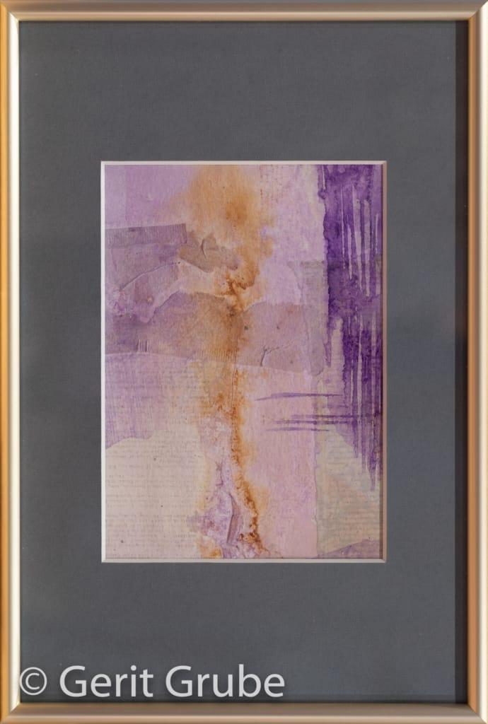 Collage o.T. 1 - 12 x 17 cm – im Rahmen 20 x 30 cm - Gerit Grube