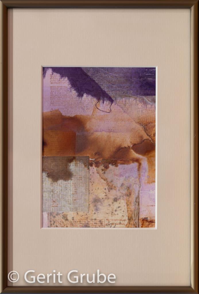 Collage o.T. 2 - 12 x 17 cm – im Rahmen 20 x 30 cm - Gerit Grube