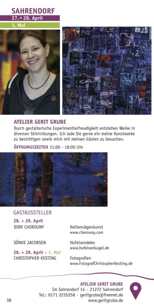 Atelier Gerit Grube in der Broschüre Heidekultour 2020
