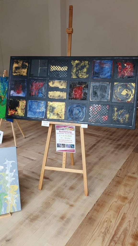 Gemälde von Gerit Grube im Kunstschaufenster in Salzhausen