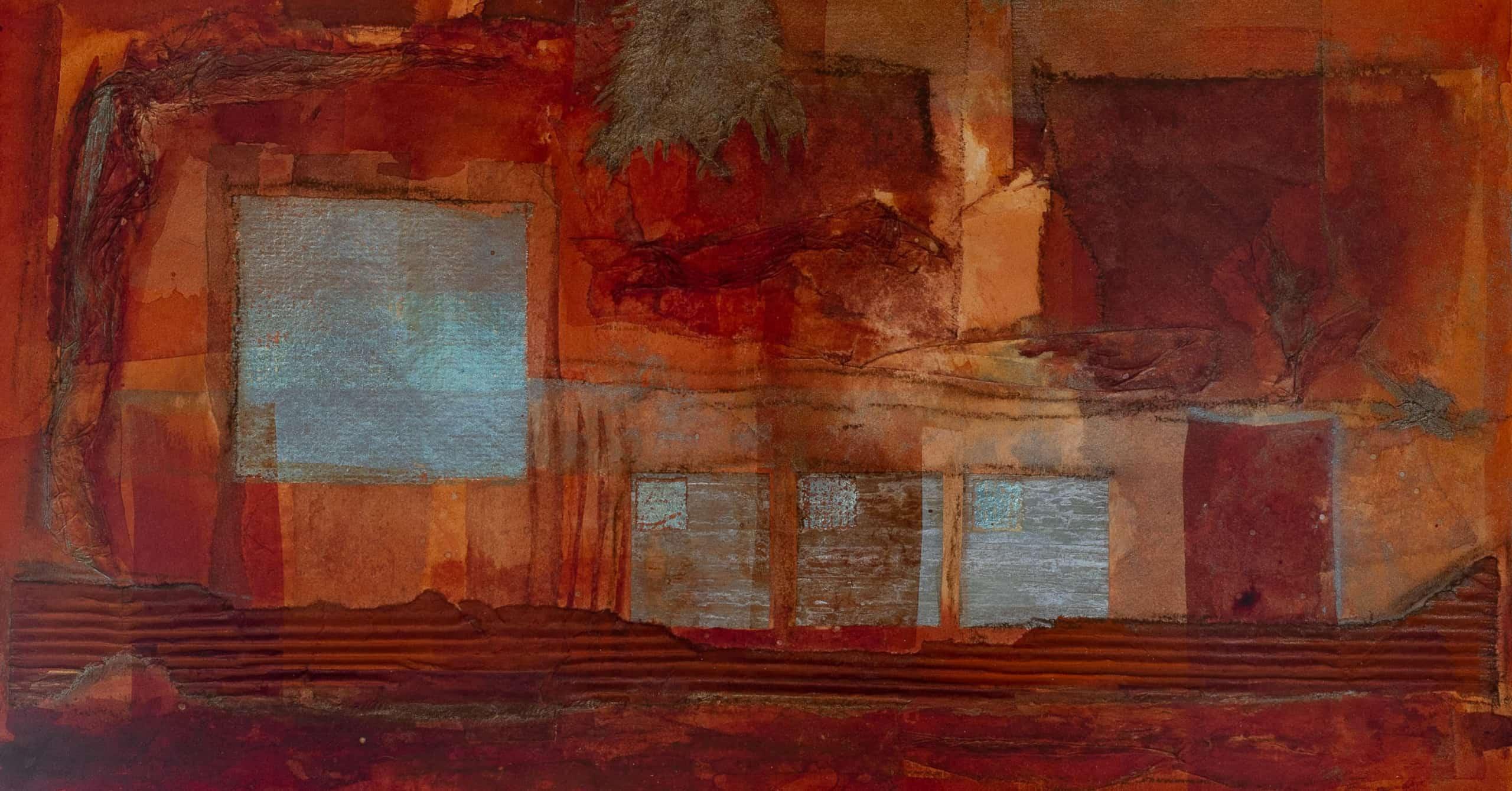 Gemälde: Beitrag von Gerit Grube zum Kunstschaufenster Salzhausen 2021
