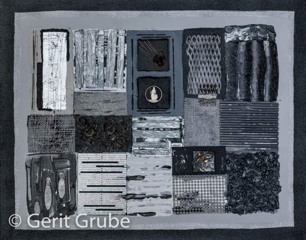 Sichtweisen 1- 40 x 50 cm im Schattenfugenrahmen - Gerit Grube