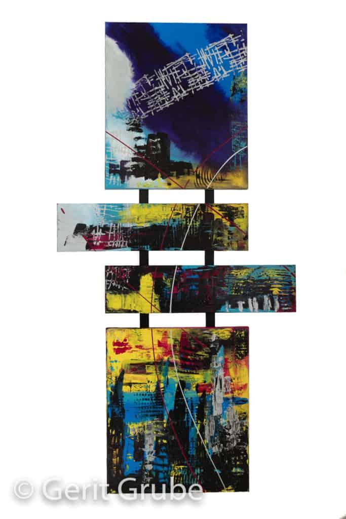 """""""Stadt in den Wolken"""" - 200 x 100 cm - Gerit Grube"""