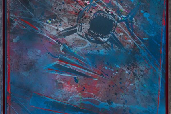 """Torpedierung"" - 65 x 65 cm - Gerit Grube"