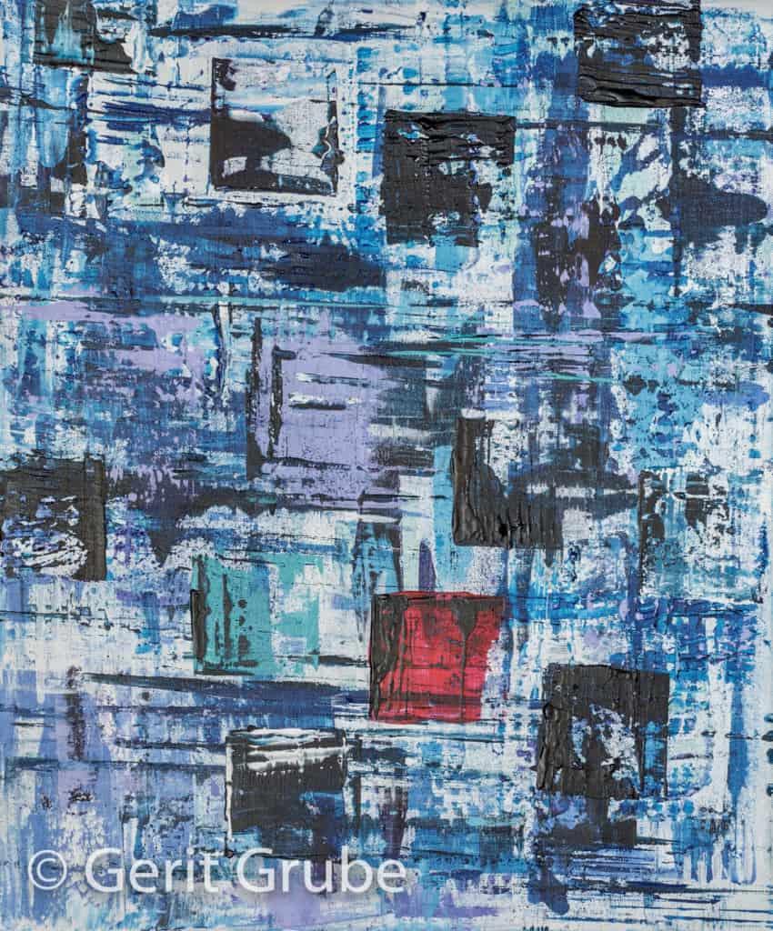 Wahrhaftigkeit 2 - mit Schattenfugenrahmen, 50 x 60 cm - Gerit Grube