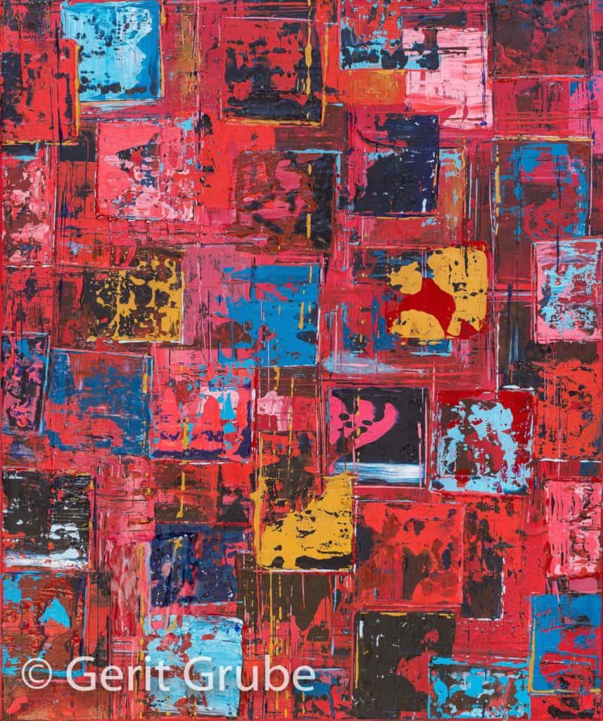 Wahrhaftigkeit 4 - mit Schattenfugenrahmen, 50 x 60 cm - Gerit Grube